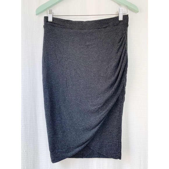 Zara grey faux wrap jersey skirt